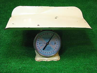 Vintage 1950'S AMERICAN FAMILY METAL Nursery Newborn Hospital Scale Yellow Baby