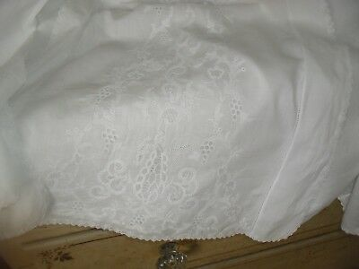 Exquisite Antique Victorian Ayreshire Embroidered Christening Gown