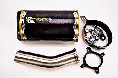 005-2410407V Two Brothers Racing Standard Series M-2 Carbon Fiber Canister Slip-On Exhaust System