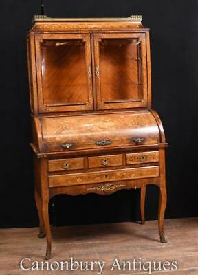 Empire Bureau Bookcase Escritoire Desk Marquetry Inlay 1890