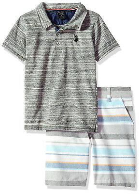 US Polo Assn Boys S/S Polo 2pc Short Set Size 2T 3T 4T 4 5/6 7
