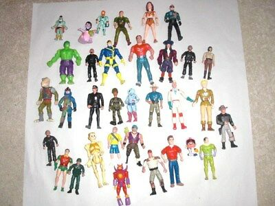 Vintage 1980's/90's lot of ACTION FIGURES Jurassic Park; Real Ghost busters etc