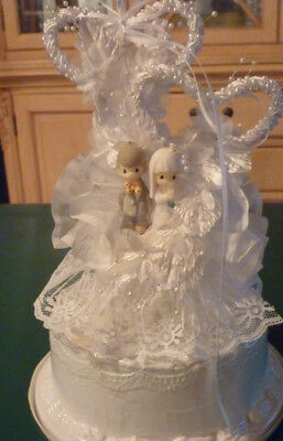 PRECIOUS MOMENTS PM Wedding Cake Topper Bride and Groom 1994