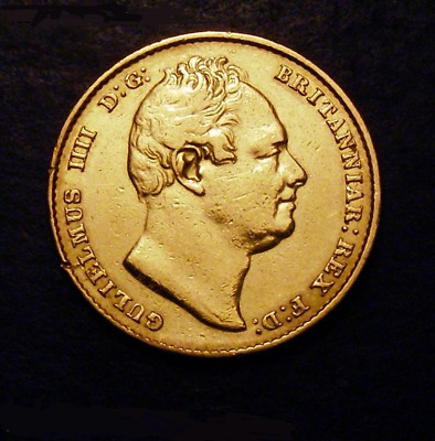 1832 William IV Gold Sovereign Second Bust Nose points to I of NIAR Marsh 17