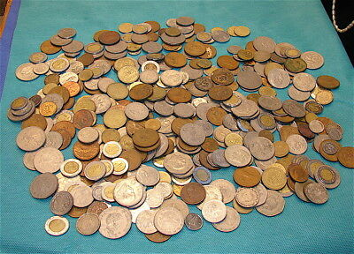 Huge Lot of Vintage Coins from MEXICO----384 Coins-----Over 5 Pounds of Coins