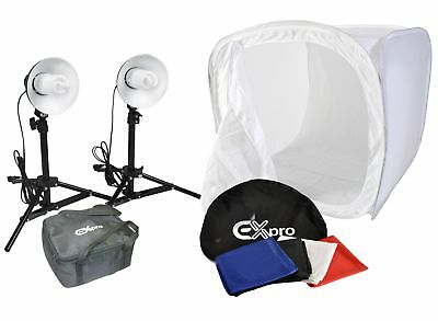 "Ex-Pro Photographic lighting Cube 19"" x 19"" / 50cm x 50cm & Pro180 lighting kit"