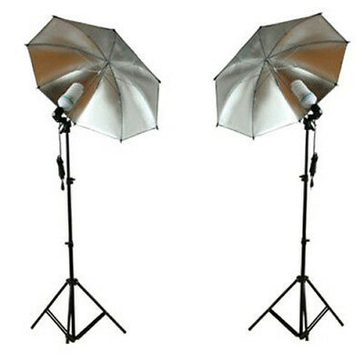 Ex-Pro Continuous Dual Photography Lighting kit 105w Stands Umbrella BlackSilver