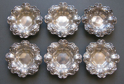 Set of 6 Vintage Sterling Silver Reed & Barton 'FRANCIS I' X569 Nut Dishes;F452
