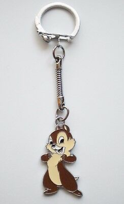 New Disney Enamel Chip 'n' Dale Chipmunk Keyring/key Ring/key Chain Present/gift