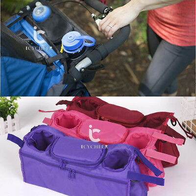 New Baby Stroller Organizer Pushchair Storage Double Cup Holder Mummy Bags Pouch