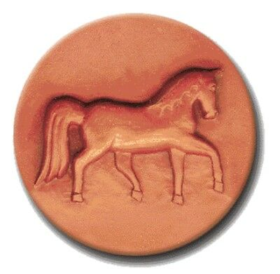 "RYCRAFT 2"" Round Cookie Stamp with Handle & Recipe Booklet--HORSE"