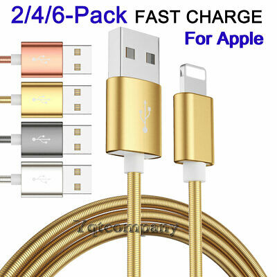 Heavy Duty Braided Lightning USB Charger Cable Cord For iPhone 7 8 X 6s 5 Xs Max