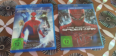 MARVEL Blu Rays:The Amazing Spider-Man1+ Spider-Man 2- Rise of Electro