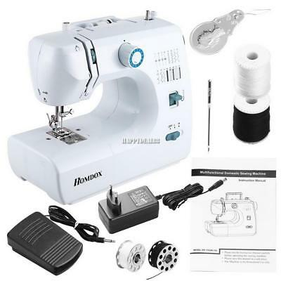 Multifunction Electric Mini Sewing Machine Household Desktop W/ LED 16 Stitches