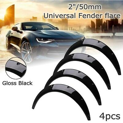 4Pcs Universal Gloss Black Fender Flares Extension Over Wide Wheel Body Arches
