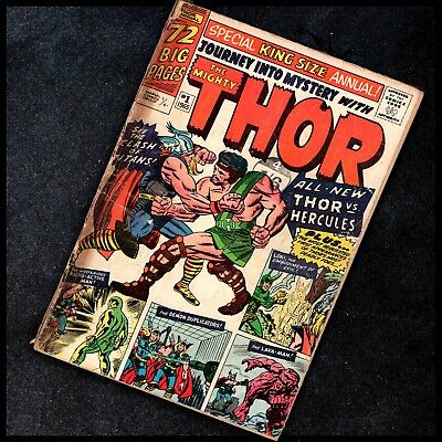 THOR #1 - (King Size Annual) - MARVEL - 1965 - 25¢ - SILVER AGE - G- 2.0 - RARE!