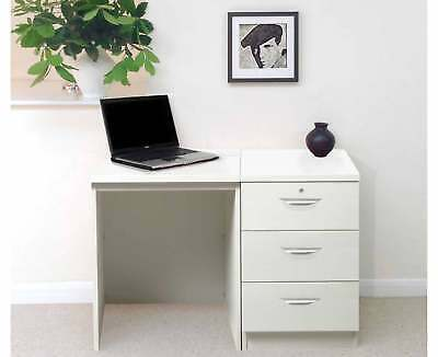 R White Home Office Desk with 3 Drawers