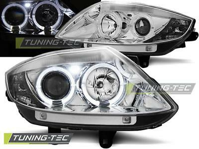 Coppia Fari Anteriori Bmw Z4 E85 E86 02-08 Angel Eyes Chrome Look*2375