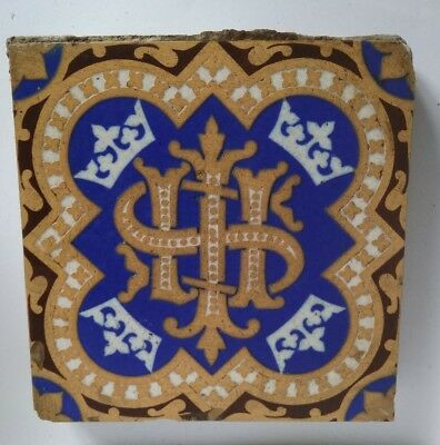 Early Minton tiles 16 in total, 10 X plus 6 times