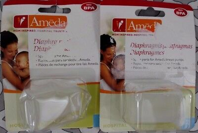 Ameda Silicone Diaphragms Breast Pump Spare Part BPA Free Lot of 2 packs (4 pcs)