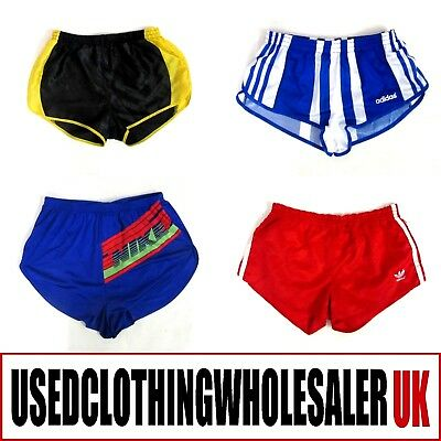 13 VINTAGE 90s RUNNING SHORTS UNISEX BRANDED ADIDAS NIKE FRED PERRY JOBLOT 2KG