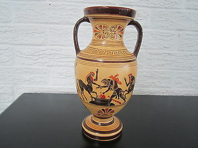 Vintage Hand Made Greek Vase , Pottery By Xipolias