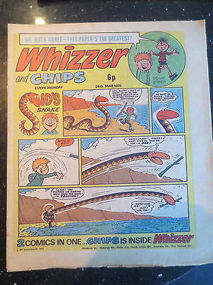 Whizzer and Chips Vintage Old UK Paper COMIC 24 May 1975 Birthday Gift