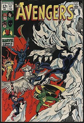 Avengers #61 Black Panther Vision Doc Strange Vf With Whte Pages