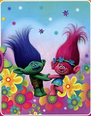 Dreamworks Trolls Fleece Throw Blanket (Forest Hope)