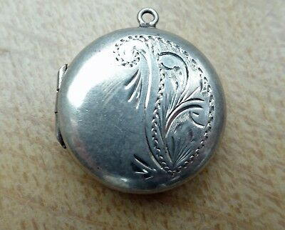 SILVER LOCKET for  PICTURE PHOTO NO CHAIN