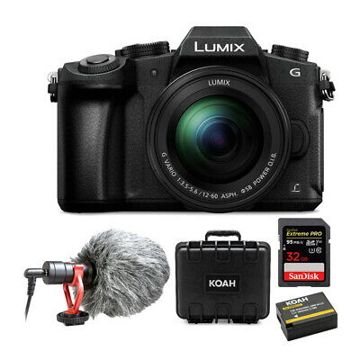 PANASONIC LUMIX G85 4K Mirrorless, 12-60mm Lens Kit with 32GB Microphone Bundle