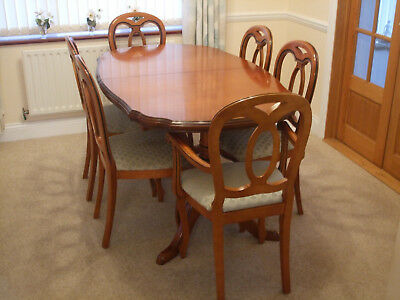 Surprising John E Coyle Cherry Wood Extending Dining Table And 6 Chairs Bralicious Painted Fabric Chair Ideas Braliciousco