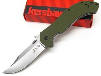 Kershaw Emerson OD Green CQC-10K Straight Bowie Blade Folding Pocket Knife 6030