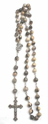 "LOURDES Souvenir Rosary Beads With Crucifix Cross Pendant, 23"" Length - G13"
