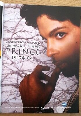 PRINCE Musicology 2004 magazine ADVERT/Poster/clipping 11x8 inches