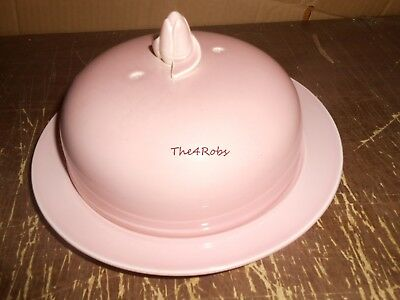 Vintage TS&T Luray Pink Muffin Cover & Plate