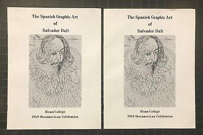 (2) 1969 Pamphlets Programs THE SPANISH GRAPHIC ART of Salvador Dali Near MINT