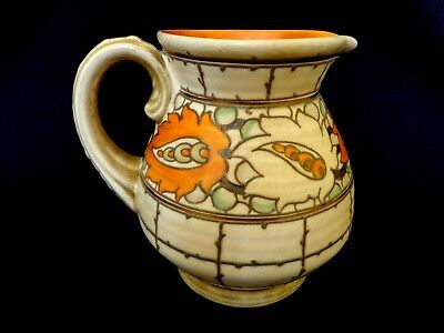 Art Deco Charlotte Rhead Tubelined Jug Crown Ducal 6in ht. Exc. Cond.