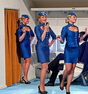 SALE 3 x pack Air Hostess Cabin Crew Quality Gloss Shine Support Tights (M)