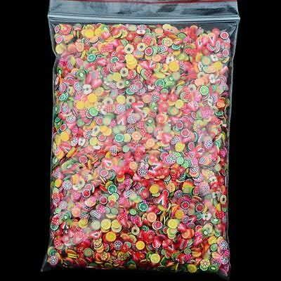 1000x Nail Art Mix Design Fimo Polymer Clay Slices Stickers Decoration Manicure