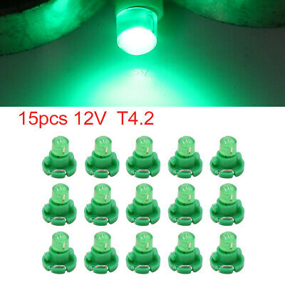 15pcs 12V Green T4.2 Car Wedge LED Dash Gauge Instrument Panel Light Interior
