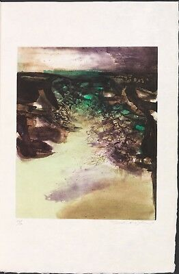 Zao Wou Ki - Canto Pisan. 1972. Etching and aquatint in colors.