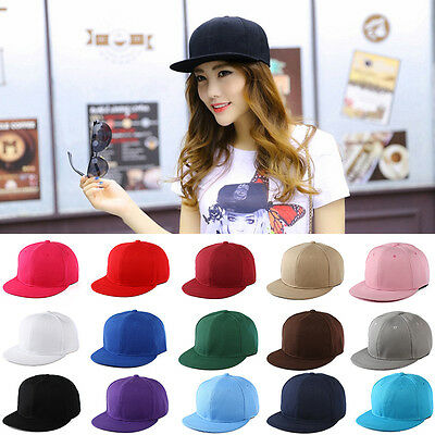 91674d6bb WOMAN MEN BLANK Plain Snapback Hats Unisex Hip-Hop Adjustable Bboy Baseball  Cap