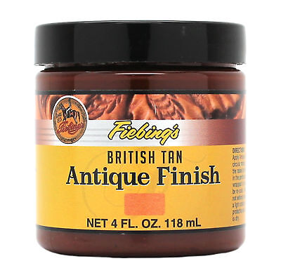 Fiebing's Antique Finish British Tan Paste 4 oz 21980-08 Leather Dye