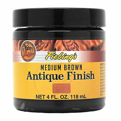 Fiebing's Antique Finish Medium Brown Paste 4 oz 21980-02 Leather Dye Stain