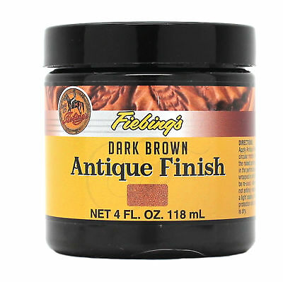 Fiebing's Antique Finish Dark Brown Paste 4 oz 21980-01 Leather Dye