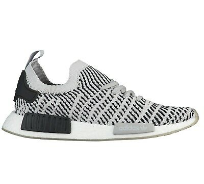 eb674430c3eac Adidas Nmd R1 Primeknit Mens CQ2387 Grey Black Boost Running Shoes Size 8.5