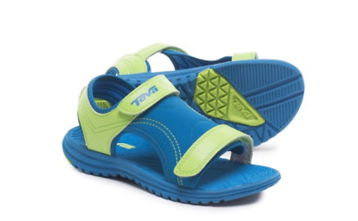 34c0d89c7d32ac New Teva Psyclone Water Sandals Kids Boys 3 Blue Lime Hook Loop Tie Free  Ship