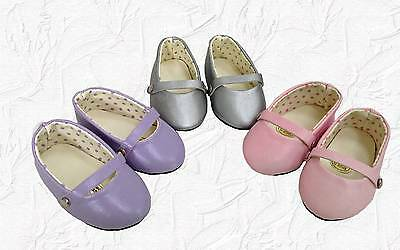 Doll Clothes Shoes Set of 3 Ballet Style PSL fit 18 inch American Girl