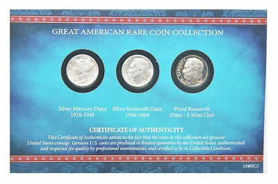 American Coin Treasure Great American Rare Coin Dime Collection 1916-1964